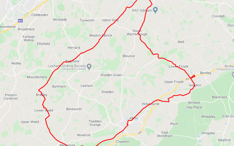 Cycle Route From Alton