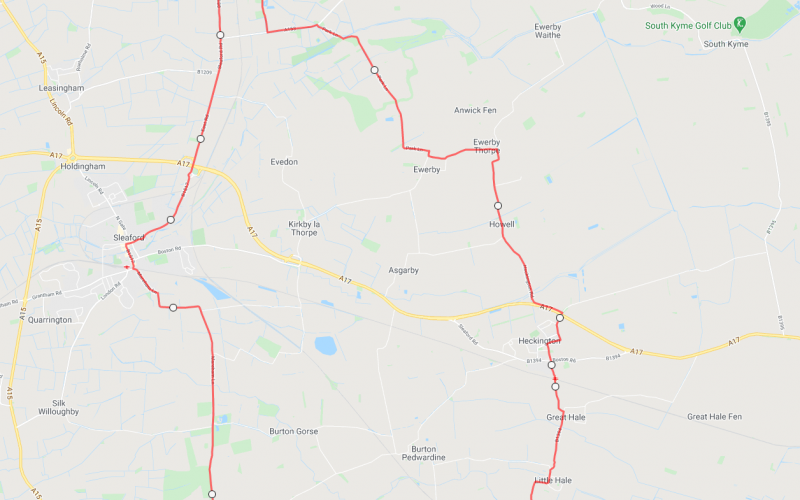 Ruskington Cycle Route